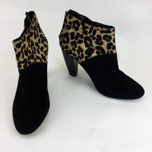 Beverly Feldman back zipper suede high heel boots